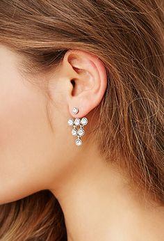 Rhinestone Ear Jackets | Forever 21 - 1000167809