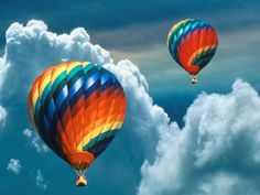 Up in the clouds.... Hot Air Balloon