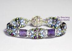 beaded tila bracelet: