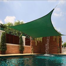 Patio Shade Ideas For Outdoor Sun Sail Square Cloth Large 18 Feet by 18 Feet Top