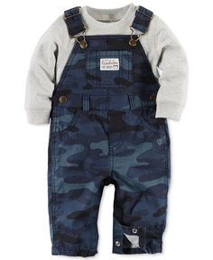 Carter's Baby Boys' 2-Piece Camo Overalls and Tee Set