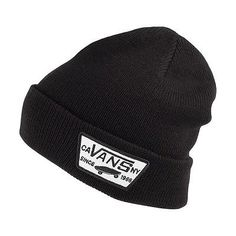 Vans hats #milford #beanie hat - #black,  View more on the LINK: http://www.zeppy.io/product/gb/2/351468050191/