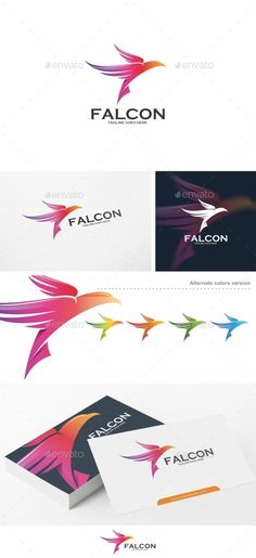 Falcon / Bird  Logo Design Template Vector #logotype Download it here: http://graphicriver.net/item/falcon-bird-logo-template/12828014?s_rank=1156?ref=nexion