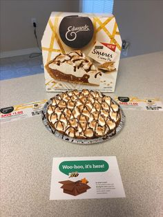 @EdwardsDesserts You have to add Edwards S'mores creme pie to your list of party supplies. It's amazing! Chocolate, marshmallow meringue, graham crackers. Enough said. #OwnTheOccasion #GotItFree #BzzAgent