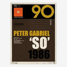 Peter Gabriel So 1986, $36, now featured on Fab.