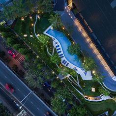 A Space Landscape Architects: L49 Photography: W Workspace #architecture #architecturephotography #landscapedesign #bangkok #thailand #condominium #l49 #wworkspace #cityscape #aerialphotography #drone