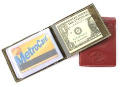 Credit Card Wallet  in Tomato Red No. 494 by AmielLeatherDesign, $20.00