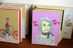 """My new paintings for   """"Absurdities Crept In"""" at GrayDuck Gallery in Austin, TX.   Opening 3/3/12."""