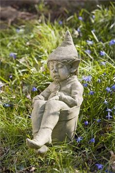 Gardens Garden statues and Garden gnomes on Pinterest