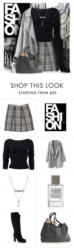 """""""Burberry Skirt"""" by debraelizabeth ❤ liked on Polyvore featuring Burberry, By Charlotte, Donna Karan, Aéropostale, CLEAN and Jimmy Choo"""