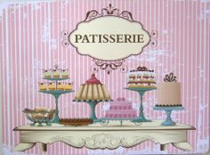 Pink Pattiserie Cake Placemats - Set of 4
