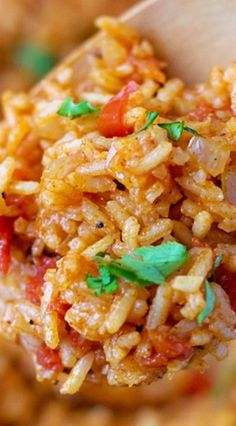 Flavorful Spanish Rice - Rice, Pasta, and Noodles - Rice Recipes Mexican Dishes, Mexican Food Recipes, Vegetarian Recipes, Cooking Recipes, Healthy Recipes, Ethnic Recipes, Spanish Rice Recipes, Homemade Spanish Rice, Vegetarian Spanish Rice Recipe