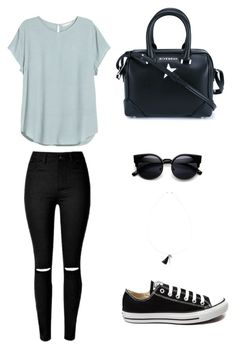 """""""Untitled #1"""" by justine-frial on Polyvore featuring H&M, Converse, Givenchy and Chan Luu"""