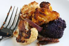Roasted Cauliflower with Indian spices. Made this last night with purple cauliflower from the farmers' market.