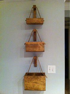 Simple wood hangers