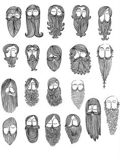 20 Beards Drawn While Waitin by Colt