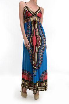 Aztec summer long dress