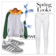 """""""ROMWE"""" by amina-33 ❤ liked on Polyvore featuring rag & bone, adidas Originals, H&M, men's fashion and menswear"""