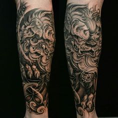 At Chronic Ink we work with some of the best tattoo artist in the world when it comes to the style of Black & Grey Asian Tattoos. View our recent tattoos. Bild Tattoos, Dog Tattoos, Body Art Tattoos, Tattoos For Guys, Tattoo Guys, Lion Tattoo, Japanese Tattoo Designs, Japanese Tattoo Art, Japanese Sleeve Tattoos