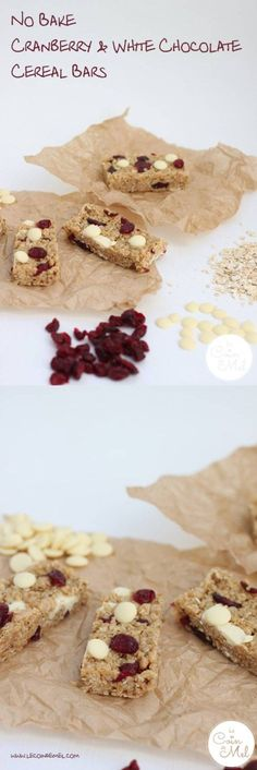 No Bake Cranberry and White Chocolate Cereal Bars - quick & delicious
