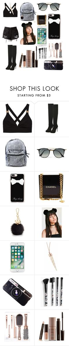 """""""Gothic Summer"""" by xxclaudialeighxx ❤ liked on Polyvore featuring Ray-Ban, Casetify, Chanel, Furla, Chicnova Fashion, Torrid and Laura Mercier"""