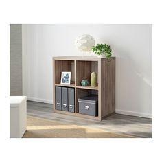 KALLAX Shelf unit, walnut effect light gray walnut effect light gray 30 3/8x30 3/8