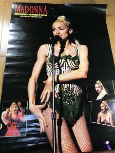Madonna Poster Blond Ambition Tour Warner Pioneer Japan Rare