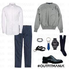 outfit da primo appuntamento: First date | camicia Barrett maglione ferrari e cintura paciotti... | #outfitmania #outfit #style #fashion #dresscode #amazing #shoes #cinture #rolex #ferrari #party #gorgeous #parties #H&M #moreschi #man #event #whiteshirt | CLICCA SULLA FOTO PER SCOPRIRE L'OUTFIT E COME ACQUISTARLO
