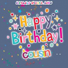 128 Best Happy Birthday Cousin Images On Pinterest Birthday Wishes