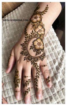 Easy Mehndi Designs, Henna Hand Designs, Dulhan Mehndi Designs, Bridal Mehndi Designs, Mehndi Designs Finger, Khafif Mehndi Design, Modern Henna Designs, Latest Arabic Mehndi Designs, Floral Henna Designs