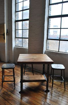 Industrial reclaimed wood Island and Bar Table