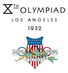 Official logo of the 1932 Olympic games in Los Angeles