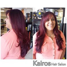 Vibrant and Vivid red hair! Color and Style done by Master Stylist Adriana! ❤