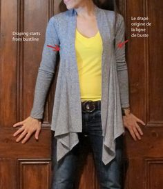 Jazz Couture: Splendid cardigan interpretation, part two - using Jalie cardigan pattern