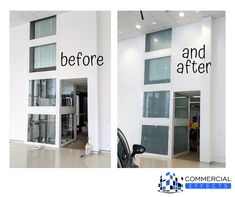 BEFORE AND AFTER >> We did some frosting for a car dealership in Capalaba, who wanted to cover up the clear glass lift well. They still wanted to be able to see it going up and down between floors, but to cover the mechanical parts. Light Etch frosted film was the perfect solution for this.   #officefitout #windoweffects #commercialtinting #customofficedesigns #windoweffects #decorativefilms #latexprinter #printedwallpaper #windowtinting #privacyglass Frosted Glass, Clear Glass, Glass Lift, Office Fit Out, Privacy Glass, Frosting, Floors, Film, Wallpaper