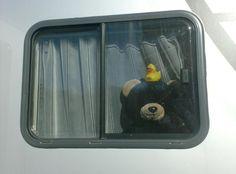 In de caravan