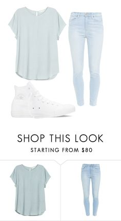 """Hi"" by aissa1026 ❤ liked on Polyvore featuring H&M, Paige Denim and Converse"
