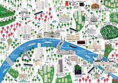 Map of Paris - Jamie Malone Paris Map, Paris Travel, Parsons Paris, Mental Map, Country Maps, List Of Artists, Travel Illustration, Map Design, Graphic Design