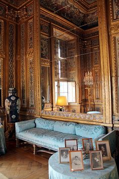 Chateau balleroy salon d 39 honneur photo by william curtis rolf built in 1631 by the architect - Cabinet mansart versailles ...