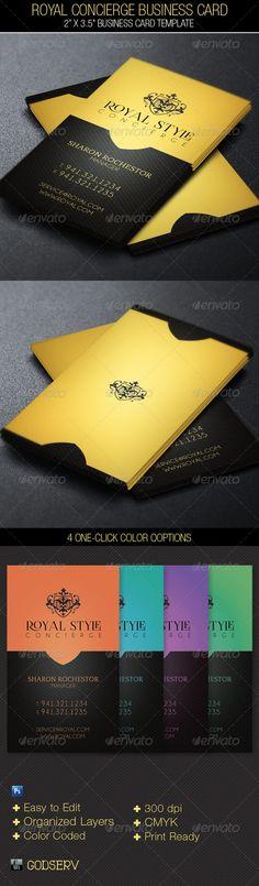 Royal Concierge Business Card Template - $6.00