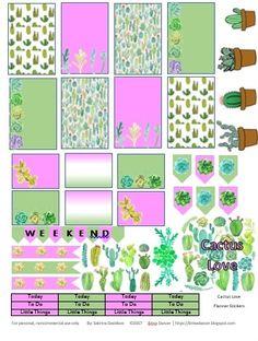 Cactus Love Planner Stickers