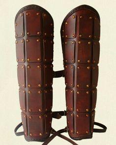 Plated shin armor