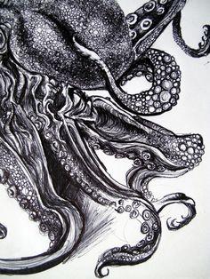 Sea Monsters Print - etsy.com