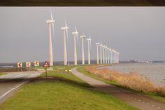 windmolens langs het randmeer