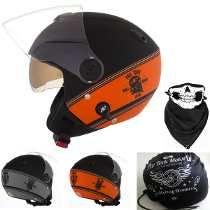 Capacete Moto New Atomic Skull Riders Pro Tork + Brinde Capacetes Abertos 7c2553a4df6