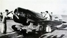 Gee Bee Model Z during inspection prior to the start of the 1932 Bendix air races