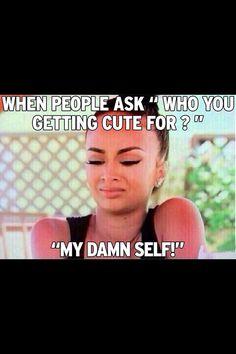 I'm sick of others thinking i'm trying to impress someone!