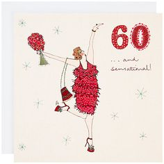 Buy Woodmansterne 60th Birthday Card Online At Johnlewis Messages Happy