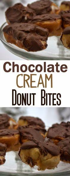 A Fine Feed: Chocolate Cream Donut Bites