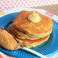 Peanut Butter Pancakes with Honey Butter